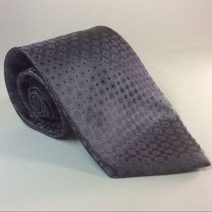 """Calvin Klein purple/blue men's silk tie 59""""x3.75"""""""